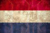 Netherlands flag in grunge effect