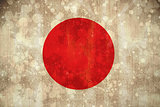 Japan flag in grunge effect