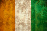Ivory coast flag in grunge effect