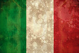 Italy flag in grunge effect