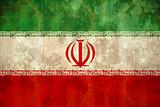 Iran flag in grunge effect