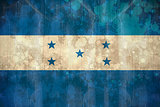 Honduras flag in grunge effect