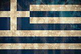 Greece flag in grunge effect