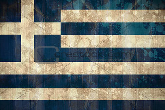 Greece flag in grunge effect