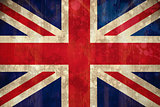 Union jack flag in grunge effect
