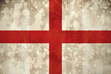 England flag in grunge effect
