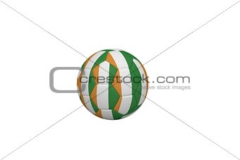 Football in ivory coast colours