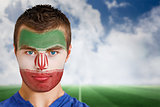 Iran football fan in face paint