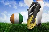 Football boot kicking ivory coast ball