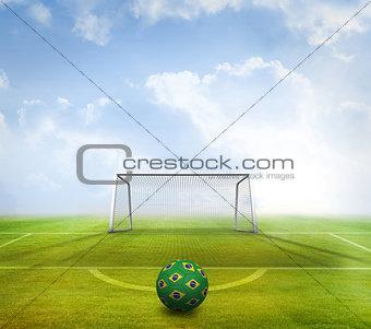 Football in brazilian colours
