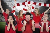 Various football fans