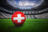 Football in swiss colours