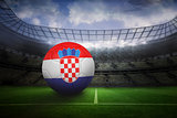 Football in croatia colours