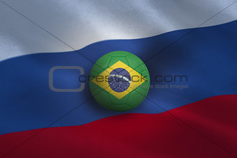 Football in brasil colours
