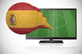Football in spain colours flying out of tv