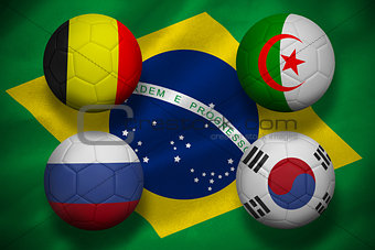 Group h footballs for world cup
