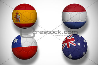Group b footballs for world cup