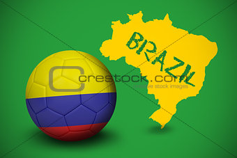Football in colombia colours