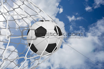 Football at back of net