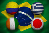 Group c world cup footballs