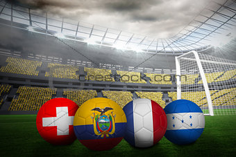 Group e world cup footballs