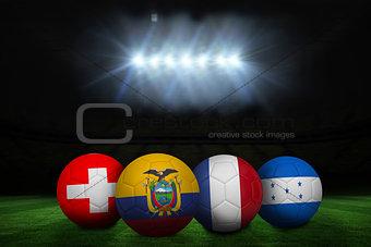 Group e world cup footballs