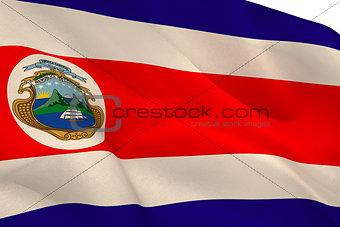 Costa rica national flag