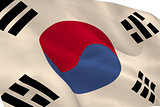 Korea republic flag waving