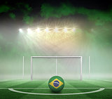 Football in brasil colours