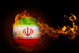 Fire surrounding iran ball