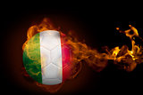 Fire surrounding italy ball