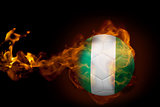 Fire surrounding nigeria ball
