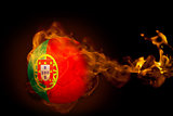 Fire surrounding portugal ball