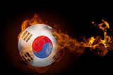 Fire surrounding korea republic ball