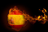 Fire surrounding spain ball
