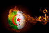 Fire surrounding algeria ball
