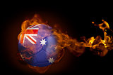 Fire surrounding australia ball