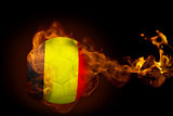 Fire surrounding belgium ball