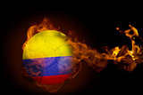 Fire surrounding colombia ball
