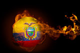 Fire surrounding ecuador ball