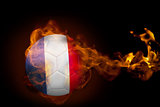 Fire surrounding france ball