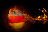 Fire surrounding germany ball