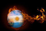 Fire surrounding argentina ball