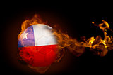 Fire surrounding chile ball