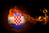 Fire surrounding croatia ball