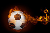 Fire surrounding football