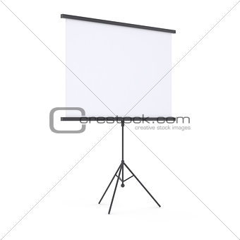 Blank presentation roller screen