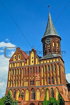 Koenigsberg Cathedral - Gothic temple 14th century. Kaliningrad, Russia