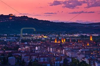 City of Alba at evening.