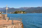 Lake Maggiore and Isola Bella in Italy.